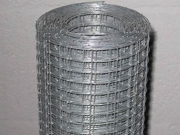 A roll of reinforcing welded mesh